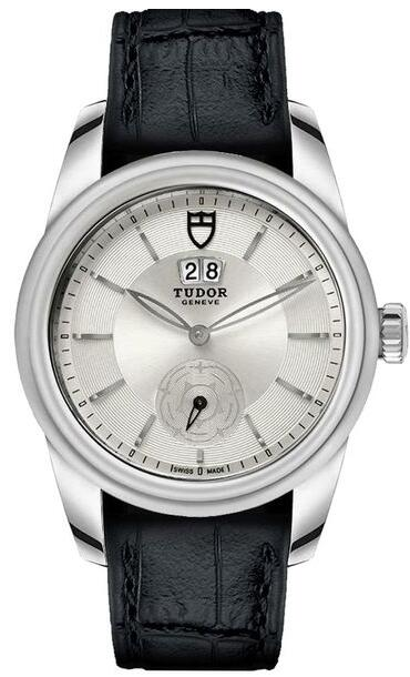 Tudor Glamour M57000-Silver Double Date Silver Dial Men Replica watch
